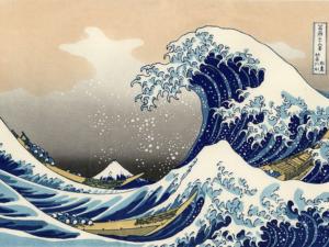 """""""Голямата вълна на Канагава"""" на Кацушика Хокусай- репродукция с акрилни бои"""