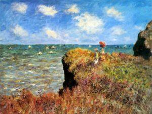 """""""Край морето"""" на Колд Моне – репродукция с маслени пастели"""