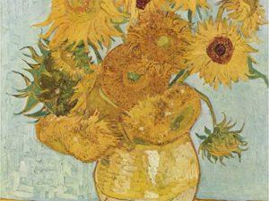 """""""Слънчогледите""""на Винсент Ван Гог – репродукция с маслени пастели"""