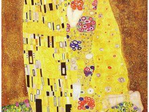 """""""Целувката"""" на Густав Климт – репродукция с акрилни бои"""