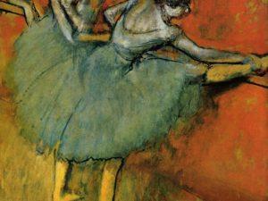 """Танцьорки в бара"" на Едгар Дега – репродукция с акрил"