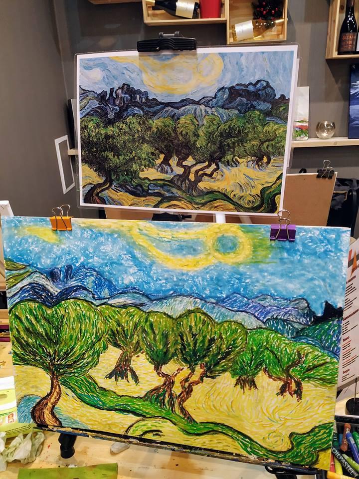 Винсент ван Гог Маслинови дървета (2)