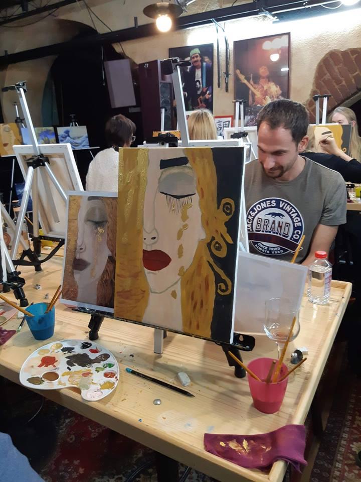 """""""Златни сълзи"""" на Густав Климт – репродукция с акрилни бои"""