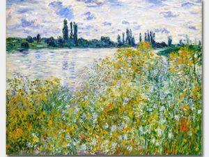 """""""Цветните брегове на Сена близо до Ветюил"""" на Клод Моне"""
