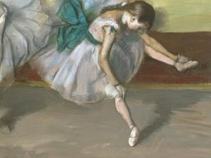 """""""Почиваща балерина"""" Едгар Дега"""