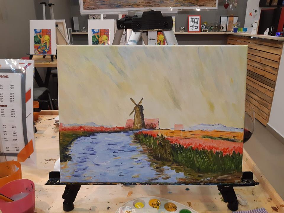 Клод Моне Поле с лалета в Холандия (4)