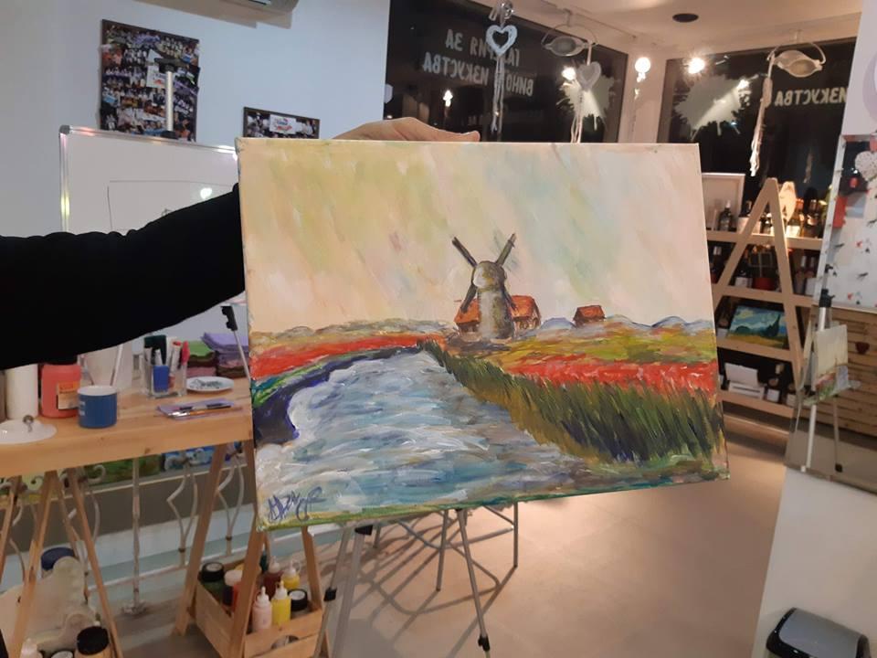Клод Моне Поле с лалета в Холандия (5)