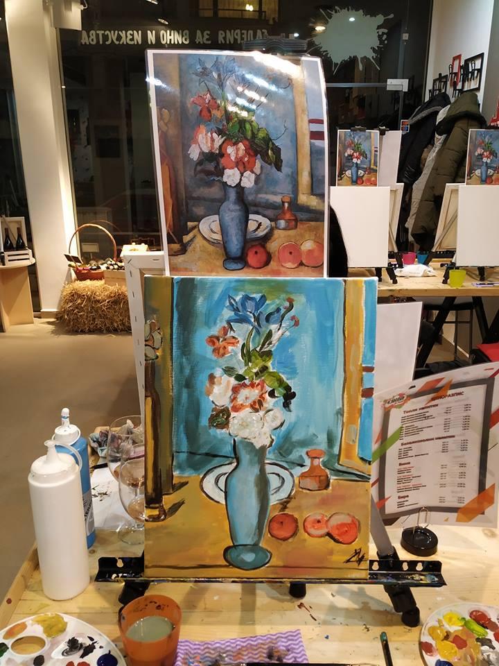 Пол Сезан Синя ваза (8)