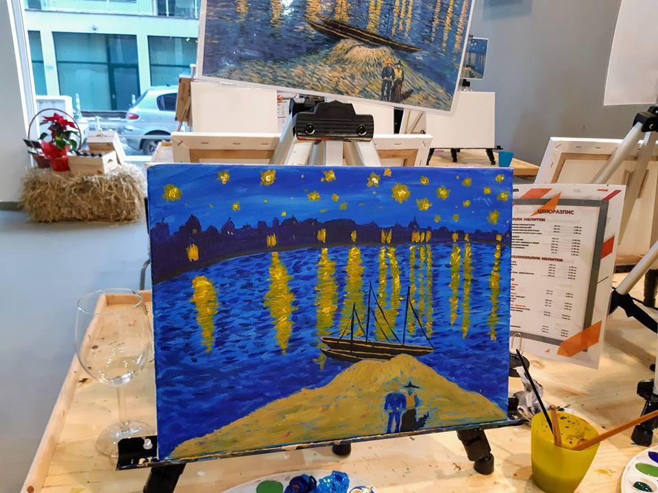 Винсент Ван Гог Звездна нощ над Рона (3)