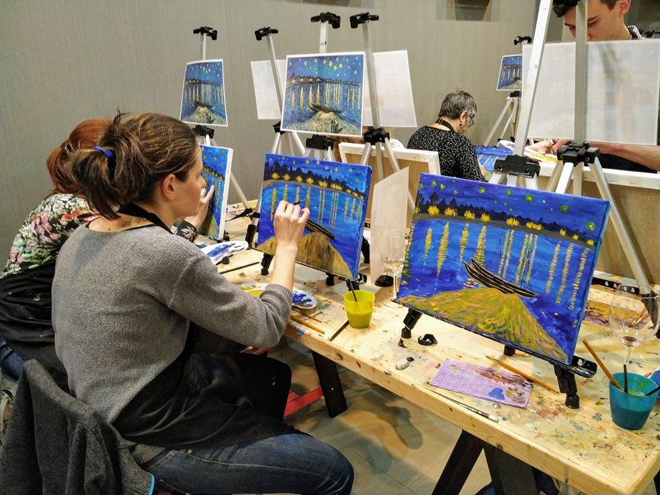 Винсент Ван Гог Звездна нощ над Рона (5)