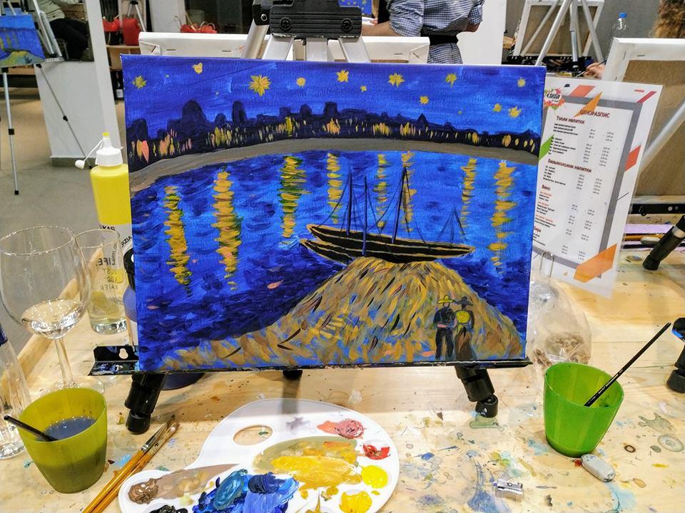 Винсент Ван Гог Звездна нощ над Рона (6)