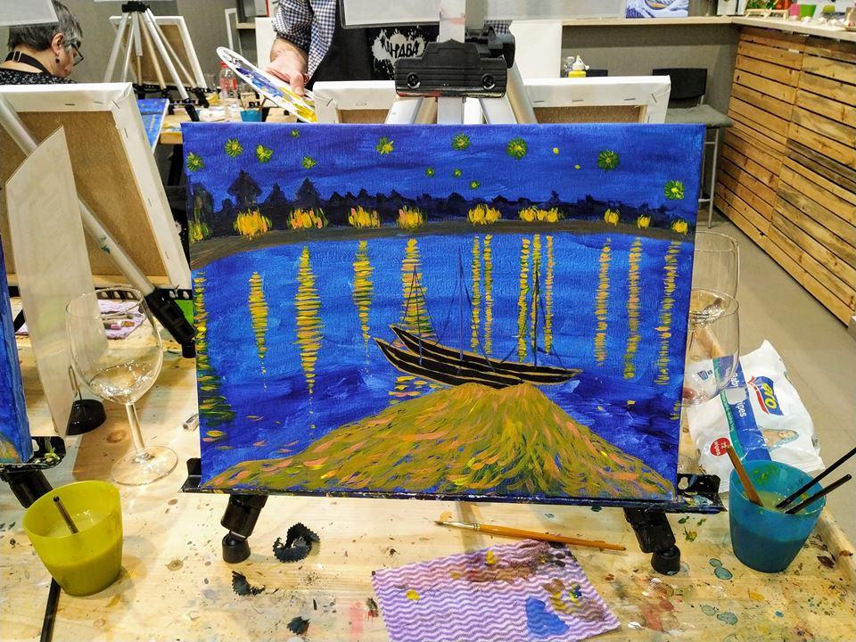 Винсент Ван Гог Звездна нощ над Рона (9)
