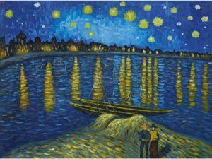"""""""Звездна нощ над Рона"""" Ван Гог"""