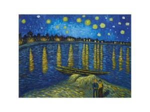 """Звездна нощ над Рона"" Ван Гог репродукция"