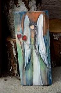 """""""Ангел"""" – Рисуване върху дърво с акрилни бои за начинаещи и любители 12.04.2019 г."""