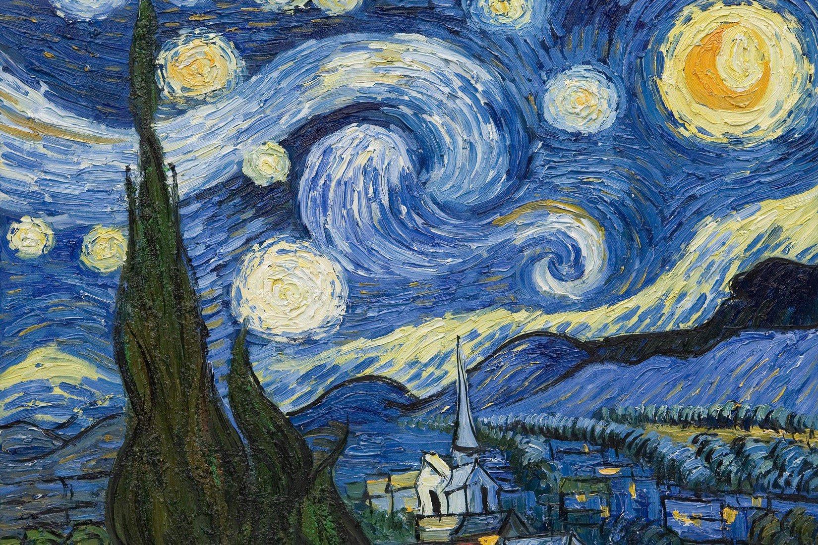 """Релаксиране с чаша вино и рисуване на репродукция по картината """"Звездна нощ """" Винсент ван Гог  – 26.03.2020 г."""