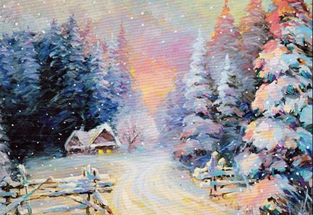 """""""Зимен пейзаж""""- релакс с рисуване и вино 08.01.2020"""