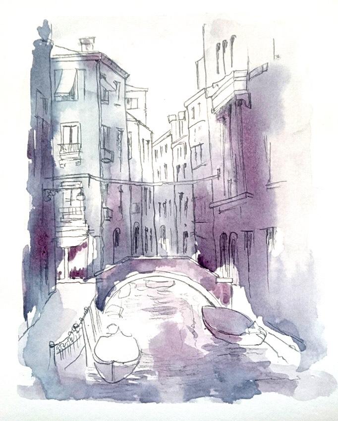 """Вино и любов – """"Винорел"""" рисуване с винена техника на картина """"Венеция"""" 13.02.2019 г"""