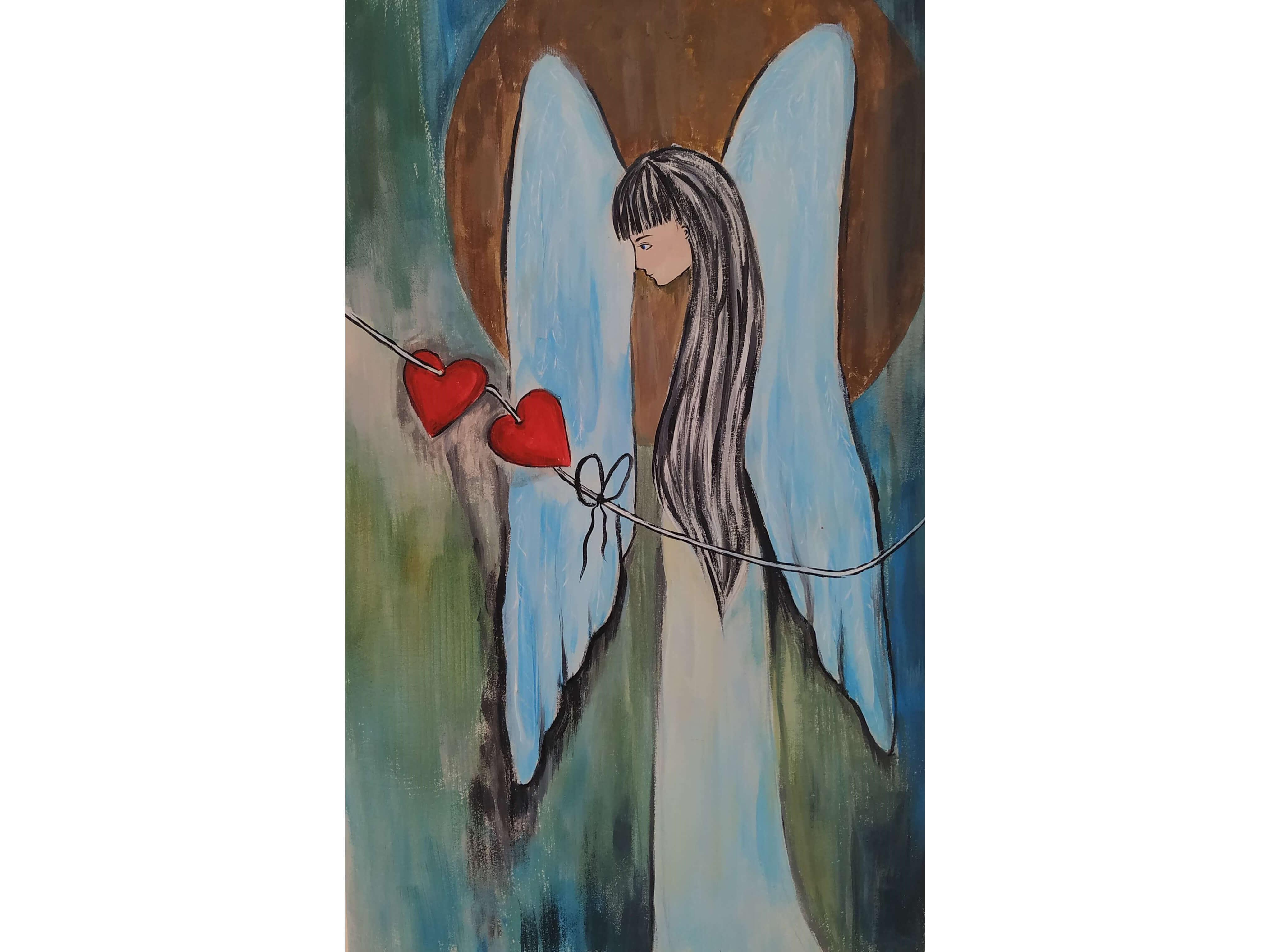 """Релаксиране с чаша вино и рисуване върху дърво """"Нарисувай своя ангел"""" – 27.12.2019 г."""