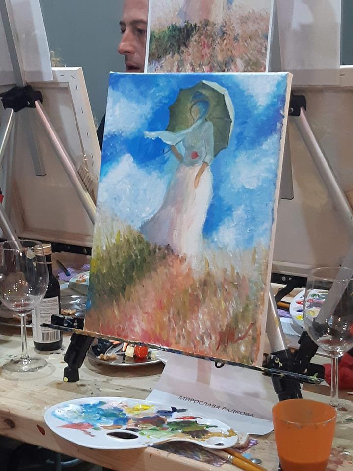 Клод Моне Жената с чадър (4)