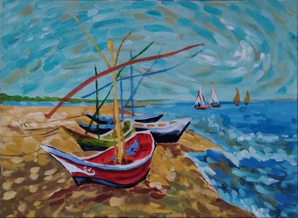 Винсент ван Гог Рибарски лодки (4)
