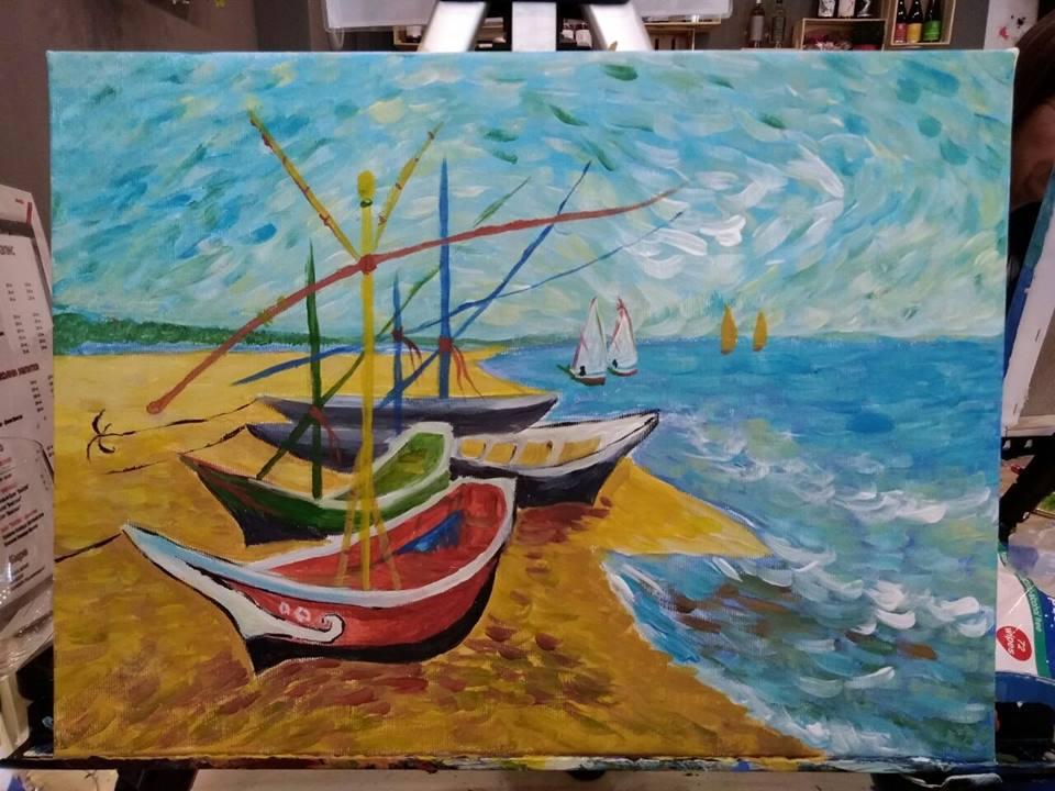 Винсент ван Гог Рибарски лодки (5)