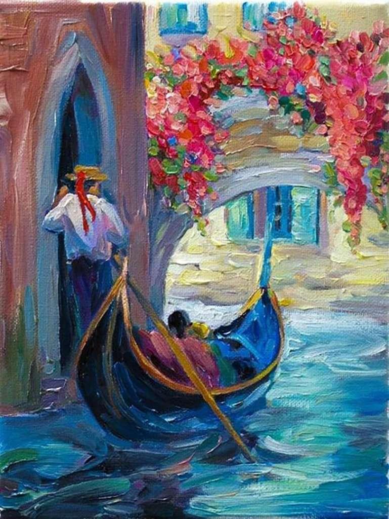 """Релаксиране с чаша вино и рисуване на репродукция по картината """"Романтика във Венеция"""" – 06.03.2020 г."""