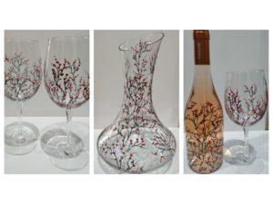 чаши вино и декантер