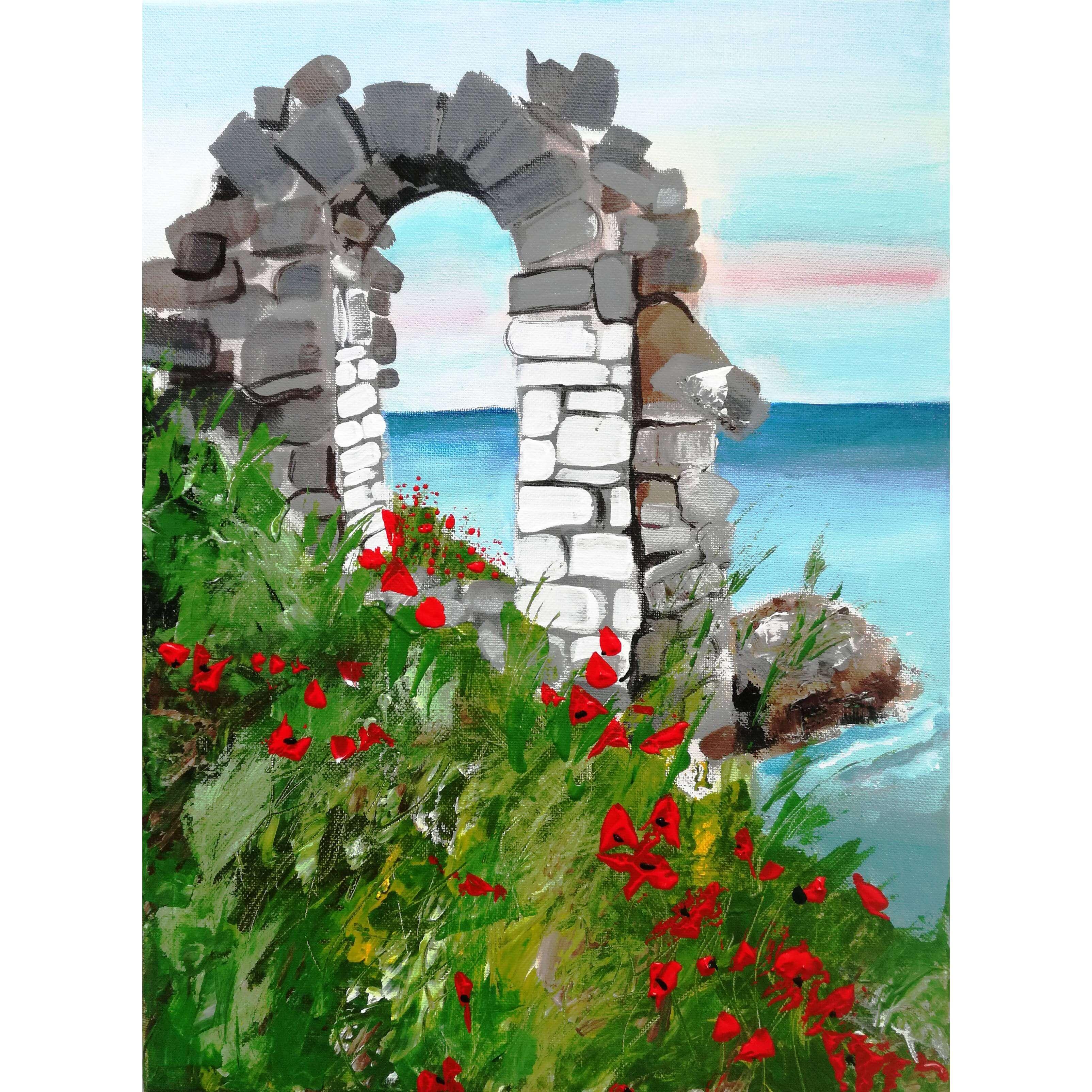 """""""Да нарисувам България- Калиакра"""". Да преоткрием красотата на родината с рисуване. 23.04.21 г."""