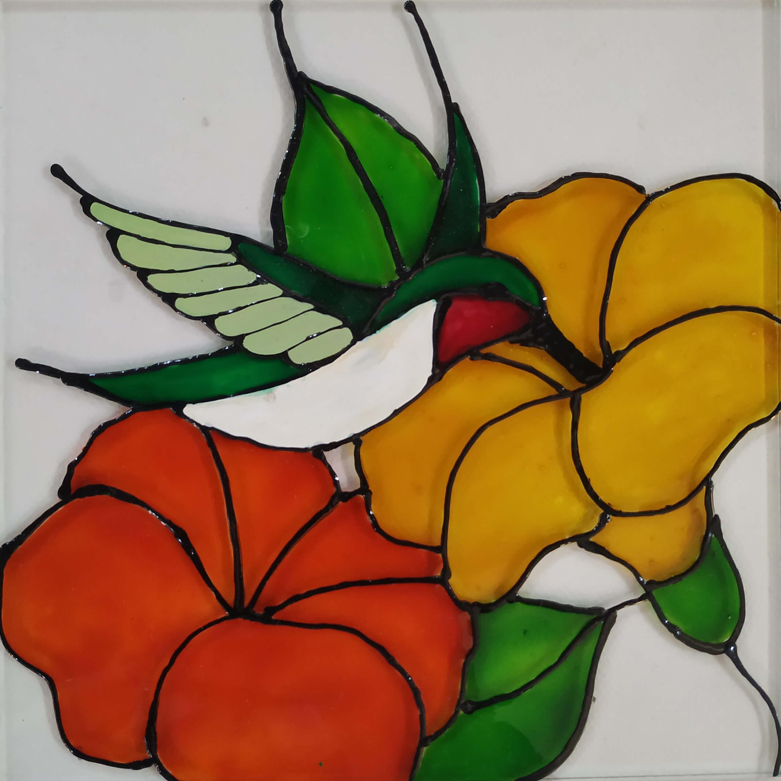 kolibri s cvete
