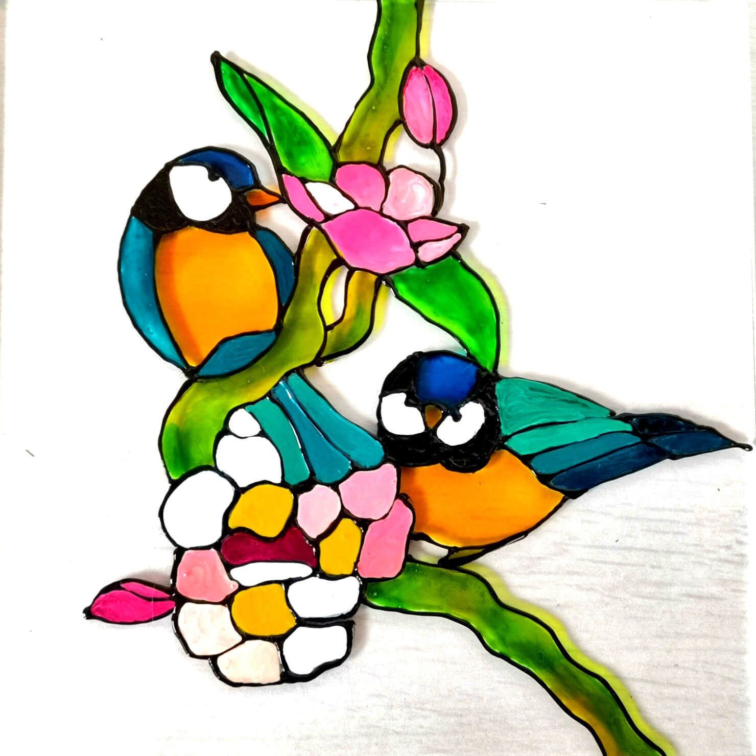 ptichka na cvetna klonka