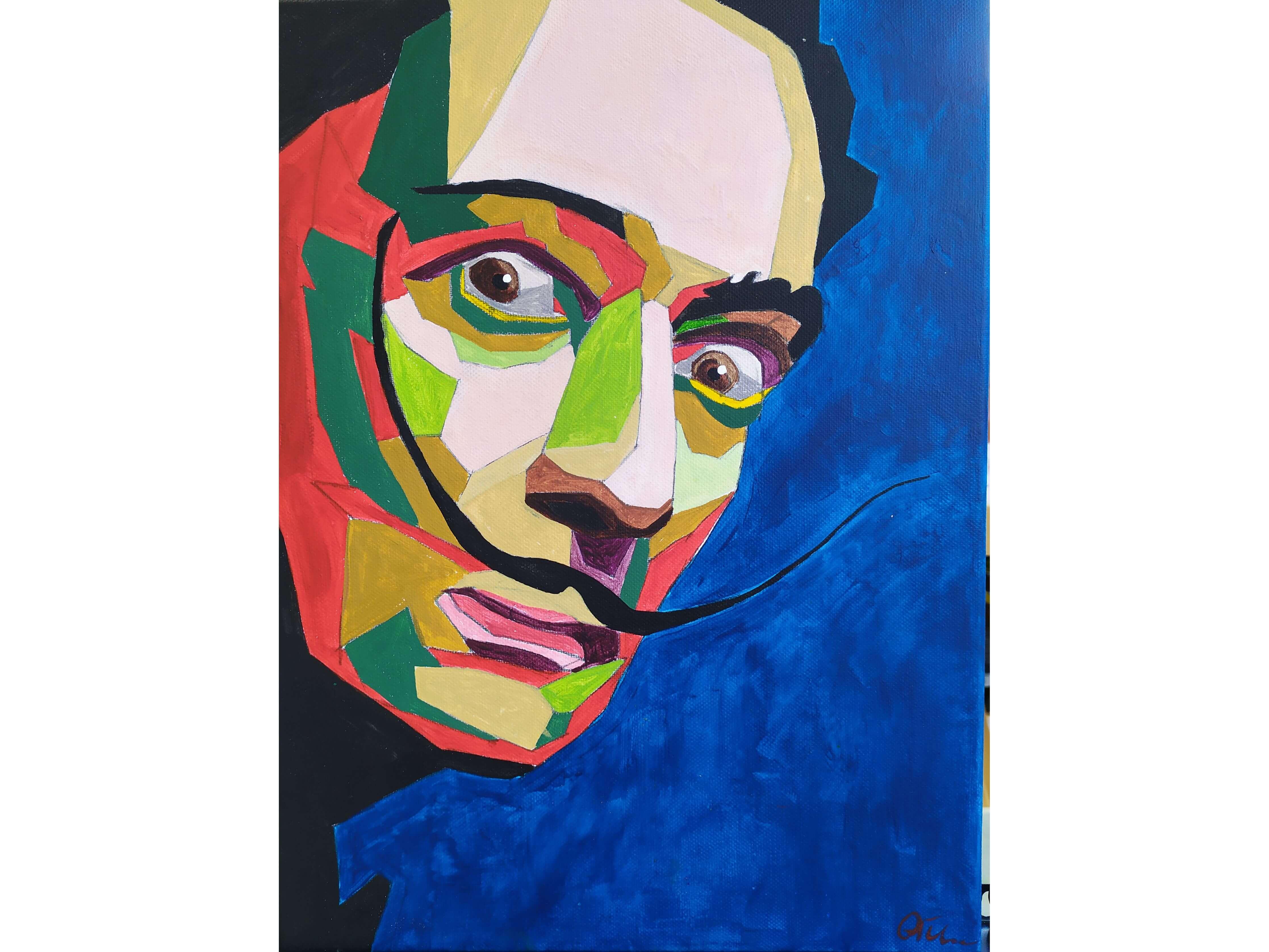 """Вино, забавление и рисуване с акрил в поп арт стил """"Салвадор Дали"""" 24.03.2021 г."""