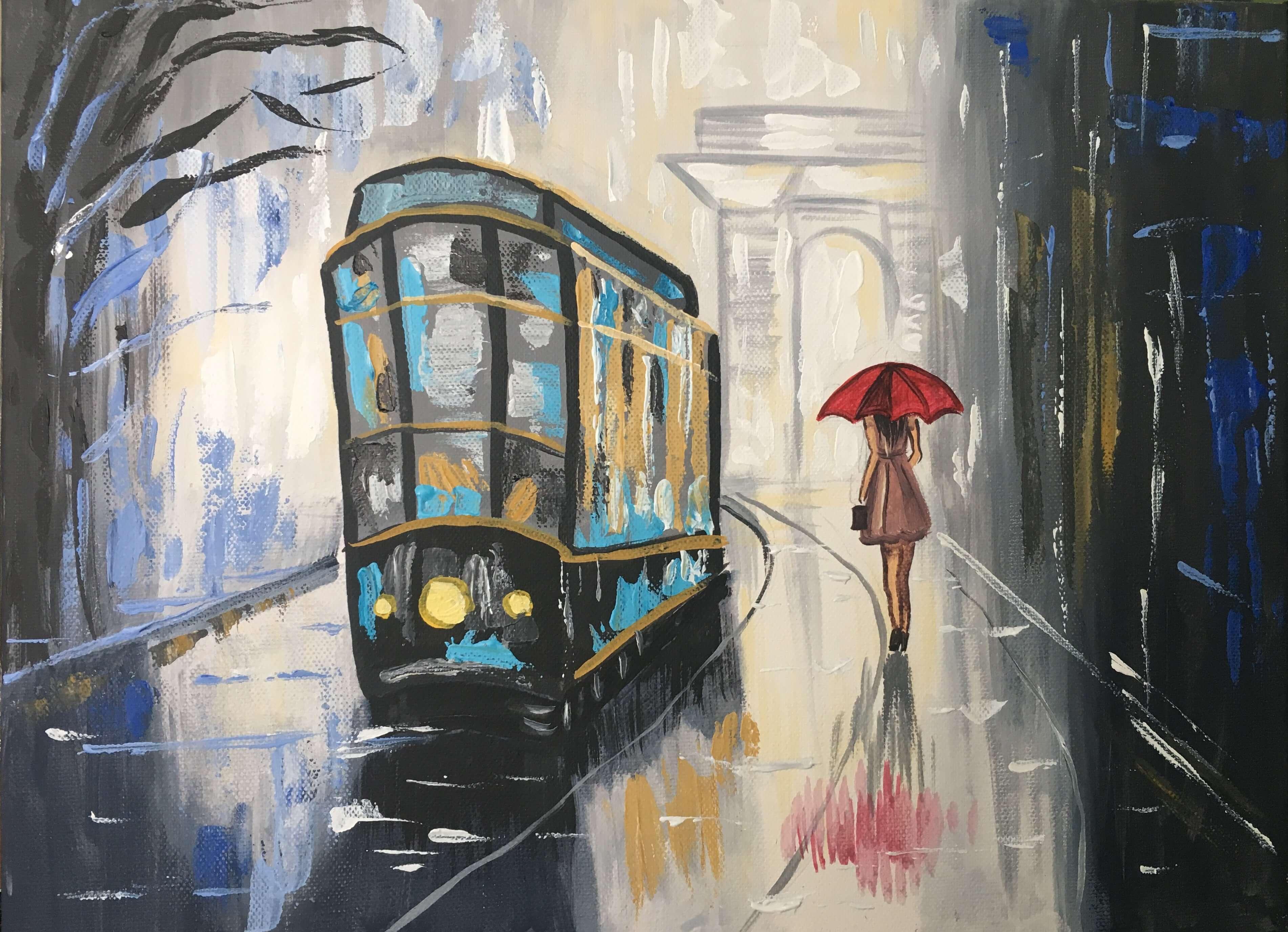 """Релаксиране с чаша вино и рисуване на картината """"Парижки потайности"""" – 15.02.20 г."""