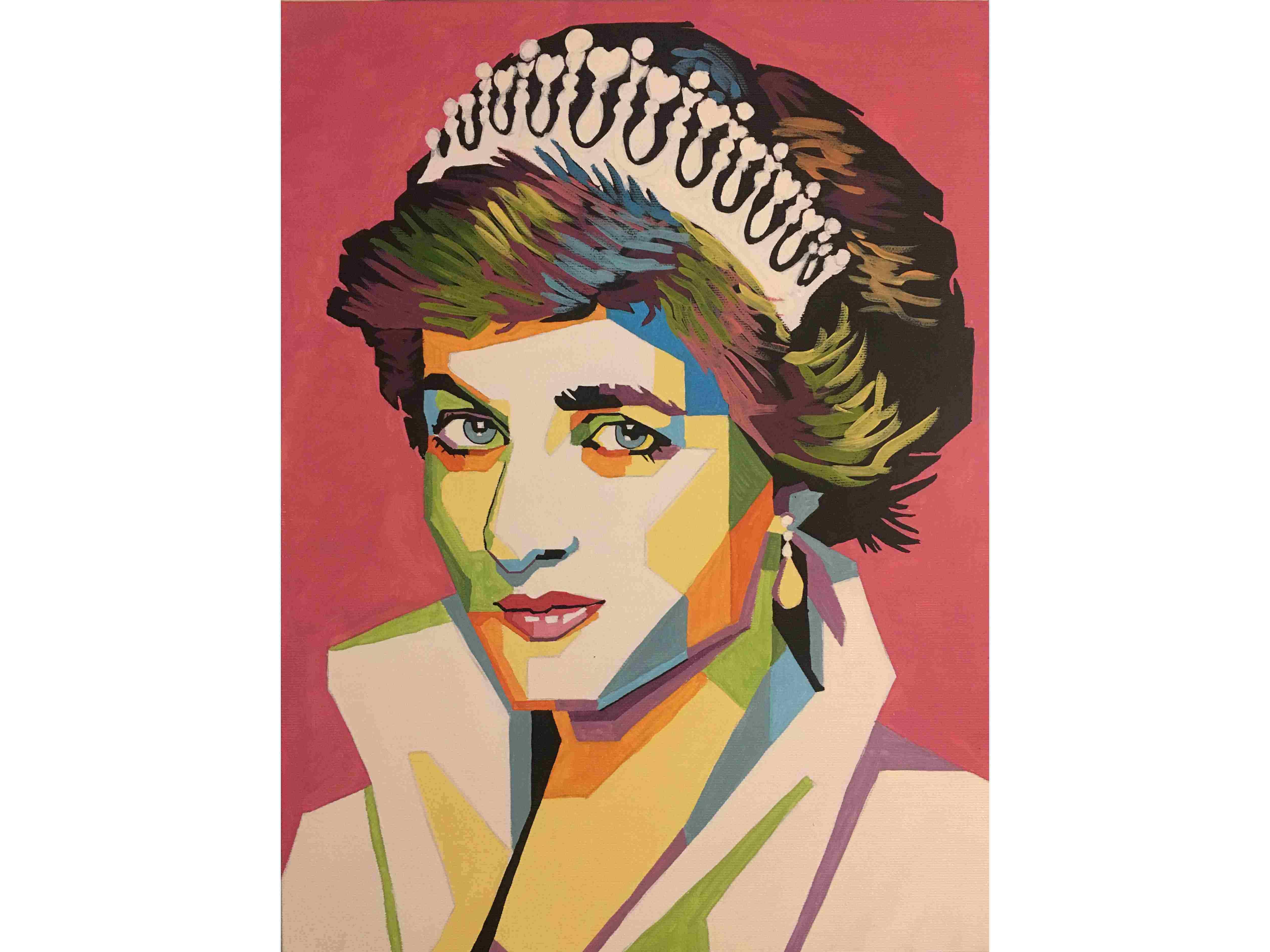 Релаксиране с чаша вино и рисуване на портрет на Лейди Даяна 27.03.2020 г.