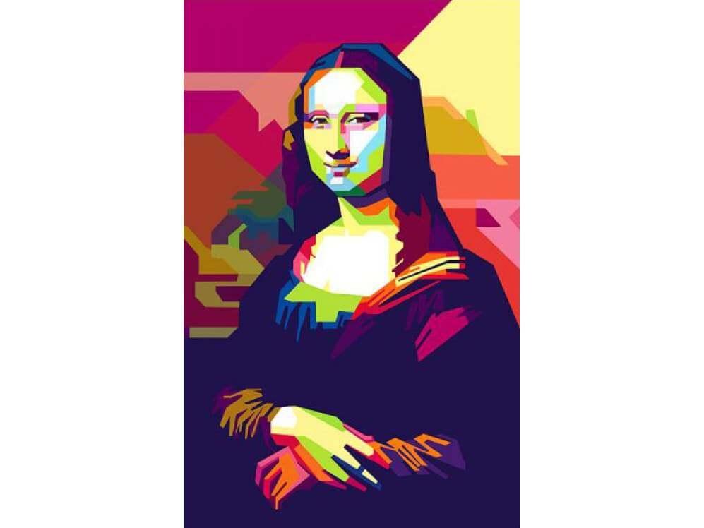 Релаксиране с чаша вино и рисуване на портрет на Мона Лиза, Джокондата 20.03.20 г.