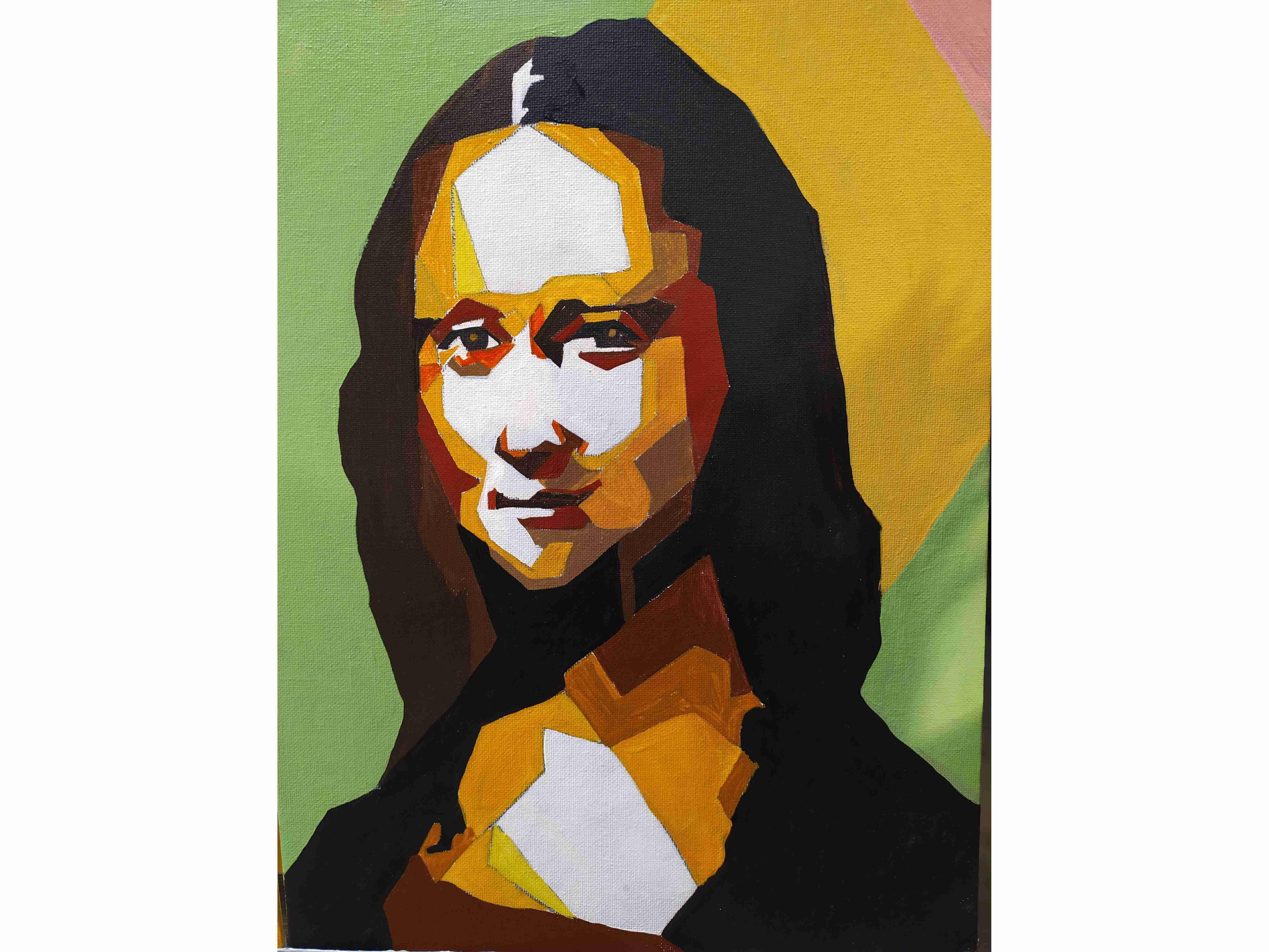 Вино, забавление и рисуване с акрил в поп арт стил на Мона Лиза, Джокондата 22.04.21 г.