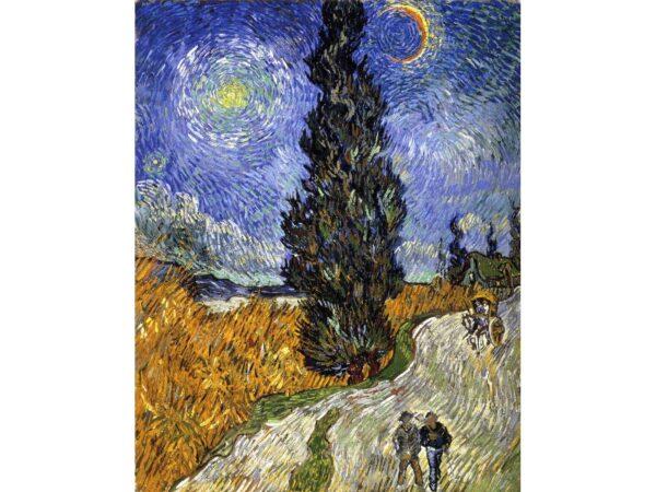 """""""Път с кипариси и звезди"""" на Винсент ван Гог"""
