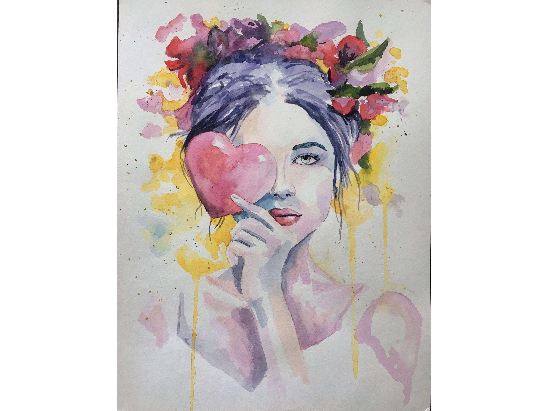"""Вино, забавление и рисуване с акварел """"Любов"""" 18.11.2021 г."""