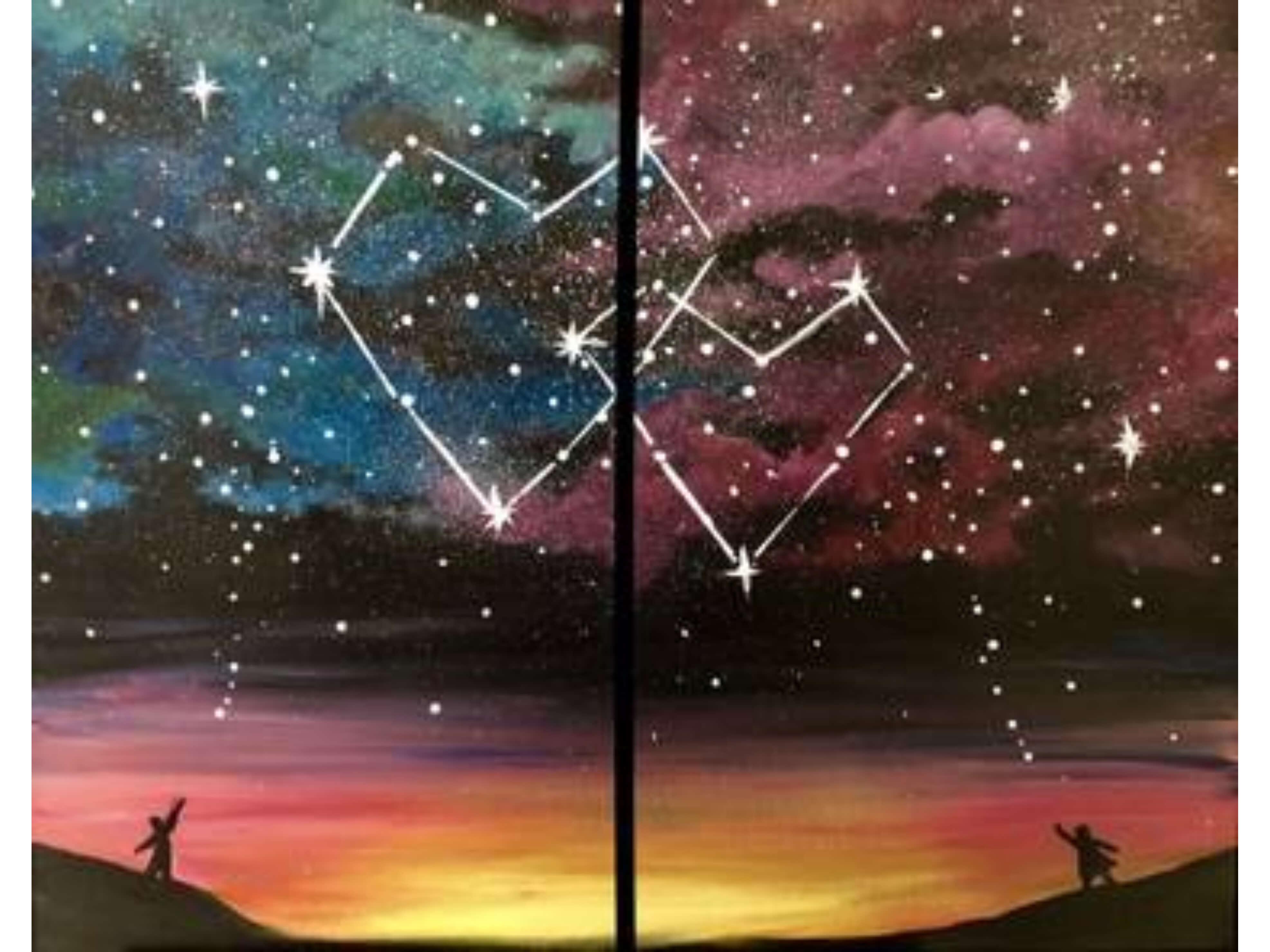 """Избягай от градската скука! Рисуваме по двойки """"Съзвездие"""" с акрил в Южен Парк! 31.07.21"""