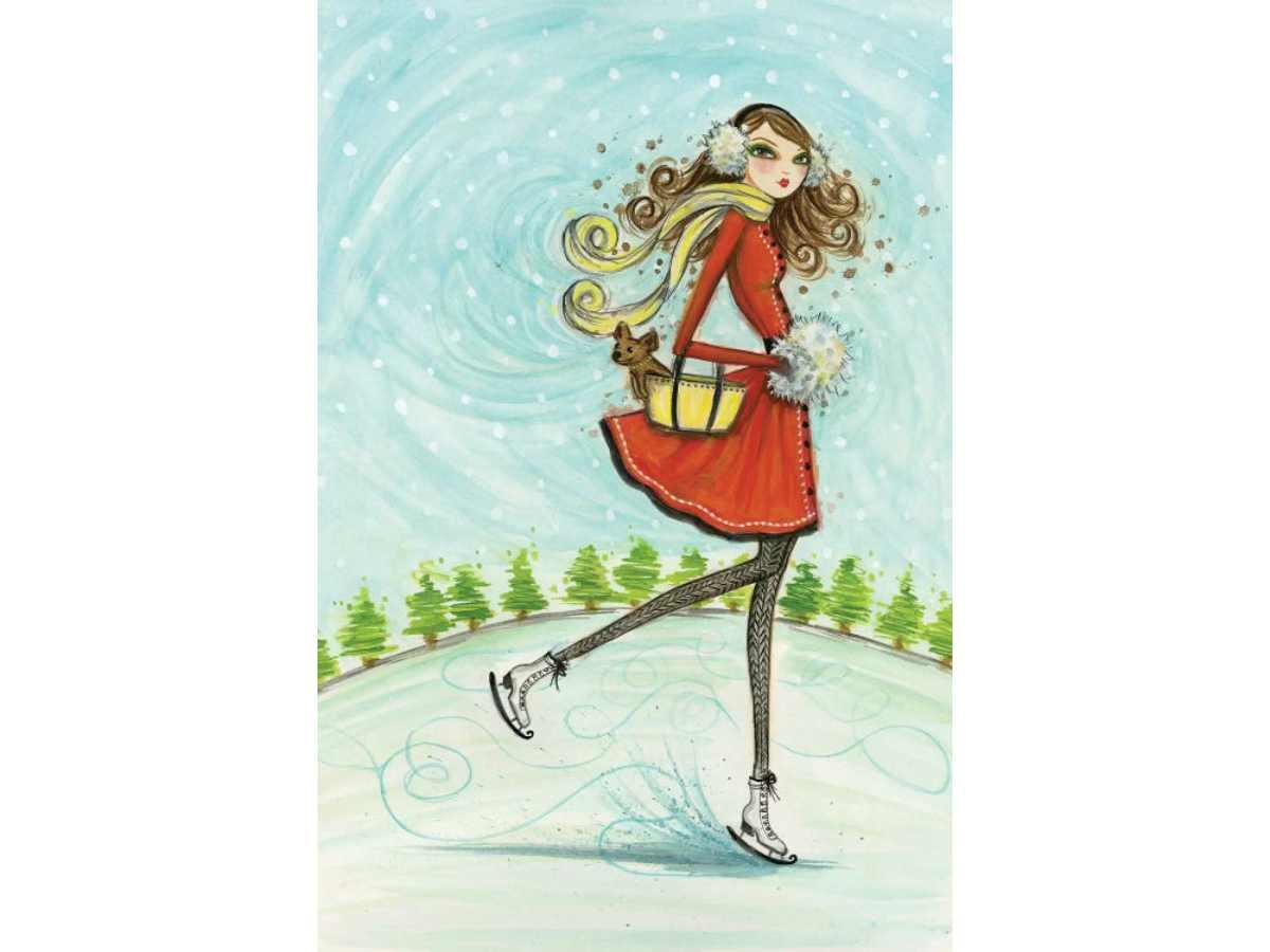 """Коледа с чаша вино и рисуване с акрил """"Snow girl"""" 18.12.2020 г."""