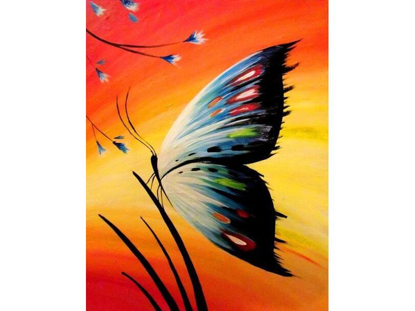 """Рисуване за деца """"Пеперуда"""". Творческо забавление за деца. 27.11.2021 г."""