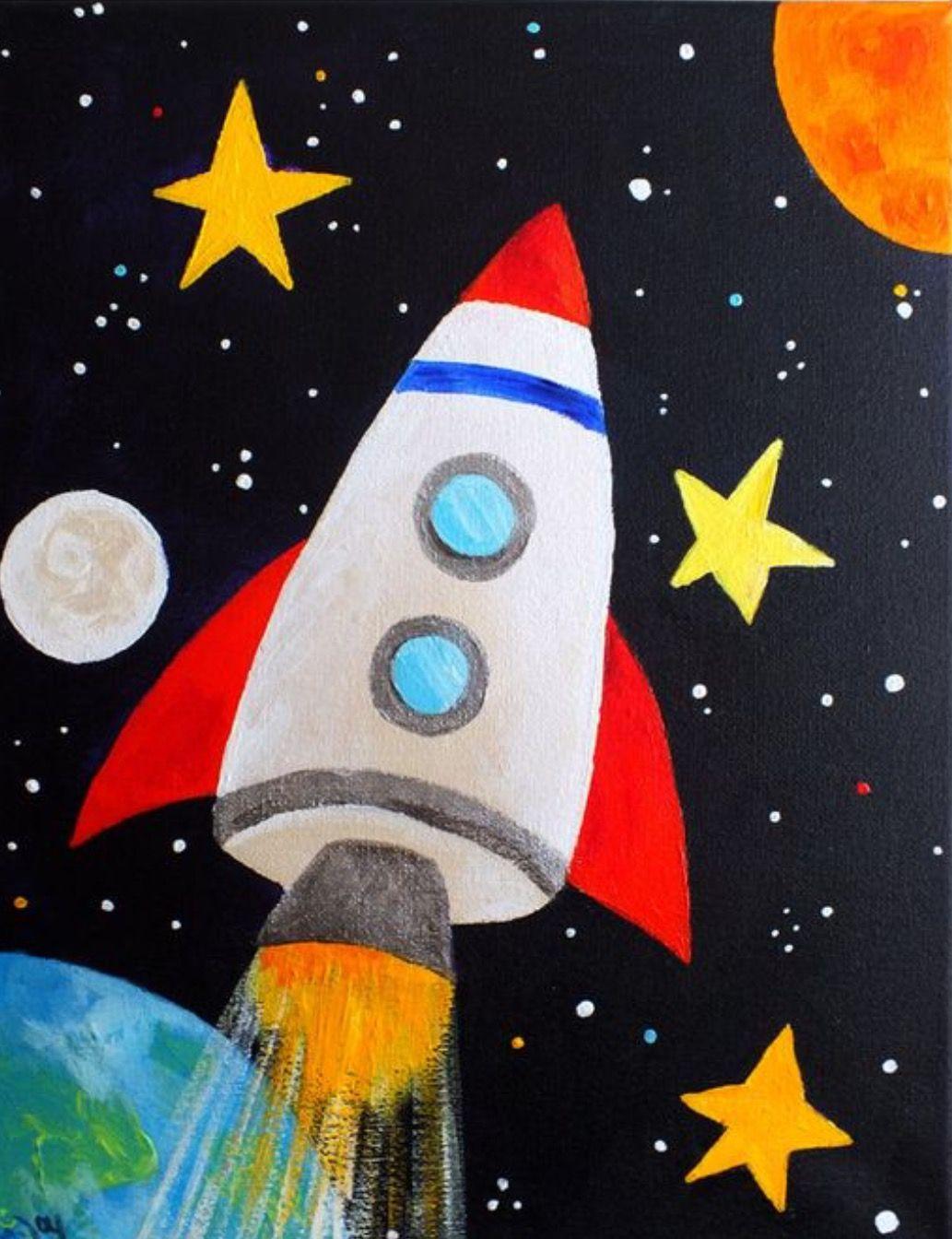 """Детска работилница по рисуване на сюжета """"КОСМОС"""". Творческо забавление за деца и родители. 20.03.2021 г."""