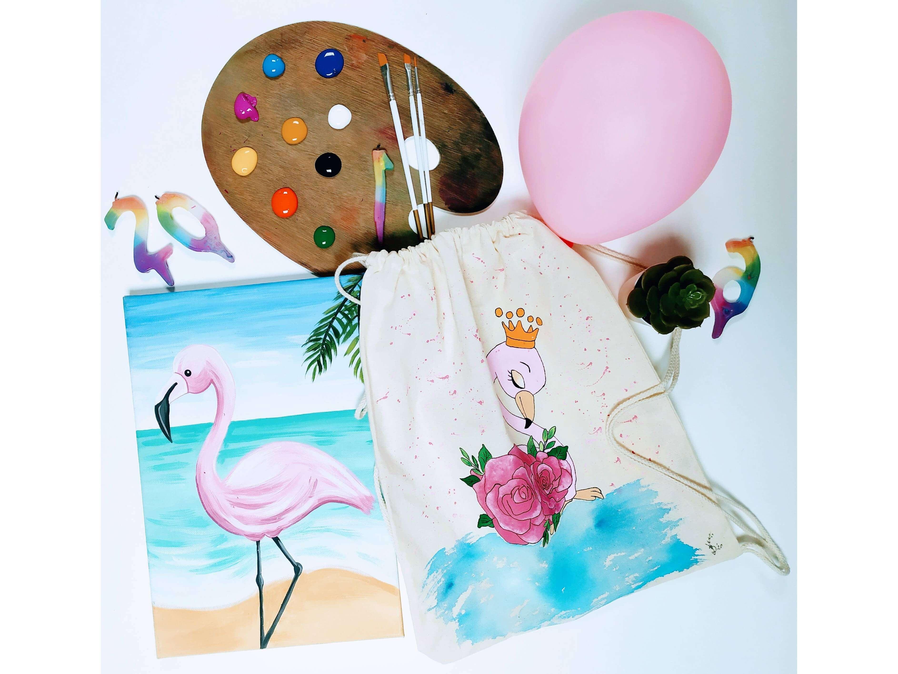 Рисуване за деца на картина и текстилни раници. 14.11.2021 г.