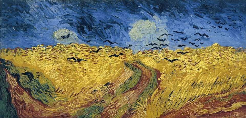 """Рисуване и вино с акрил """"Житно поле"""" Винсент ван Гог 05.11.2021 г."""